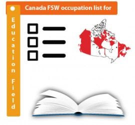 Canada FSW Program occupation list for Education Field